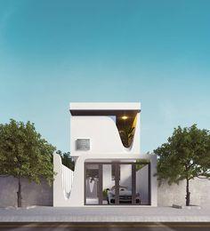 22 Simple Modern Dream Home Ideas [Latest Minimalist Architecture, Facade Architecture, Residential Architecture, Amazing Architecture, Duplex House Design, Small House Design, Modern House Design, Modern Exterior, Exterior Design