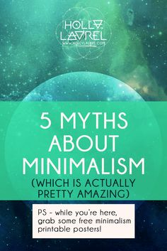 Minimalism isn't about living in a tiny house. Click through to get the low-down on this and other myths about Minimalism.