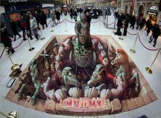 El Street Art de Kurt Wenner: Ilusiones ópticas creadas sobre el Pavimento.