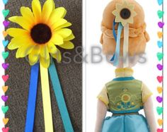 Frozen Fever Spring Summer 2015 Sunflower Inspired Anna Birthday Hair Clip - Great for Cosplays, Disneybounding & Parties