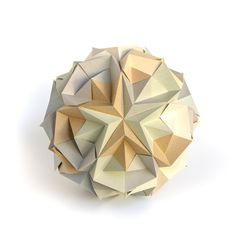 Impossibly possible, 30 squares, no glue. #origami #paperfolding #ekaterinalukasheva