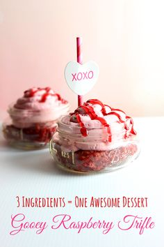Only 3 Ingredients in this tasty Valentine's Day Trifle!