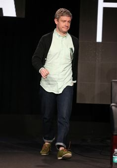 I see you walk and I can't even... // Martin Freeman - Winter TCA Tour - Fargo panel (1-14-14)