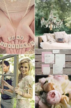 Dusty Pink and Sage - Rustic Glam Wedding Inspiration