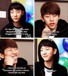 Aww!!  Kind leader Yongguk...