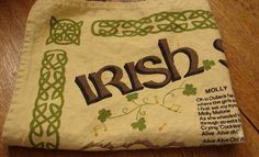 Vintage IRISH Cotton/Linen Tea Towel Irish by NopalitoVintageMore, $10.00