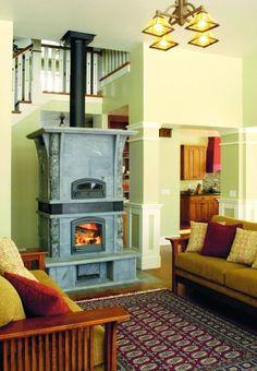 TTU2700/51- Craftsman Tulikivi Soapstone Fireplace/Bakeoven Combination