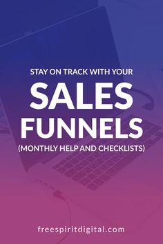 Creating a sales funnel takes time and work, so are you staying on track with yours? Learn how to stay on track with your sales funnels with monthly help and helpful checklists that will help you bring in sales and grow your business. #marketing #business #salesfunnels Sales And Marketing, Business Marketing, Social Media Marketing, Online Business, Practical Action, Relationship Marketing, Sales Techniques, Stay On Track, Sales Strategy