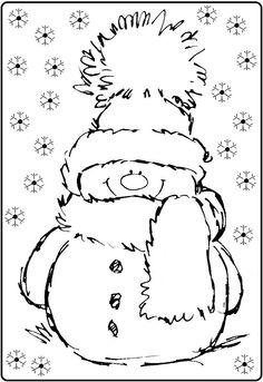 * Sneeuwpop in de sneeuw!