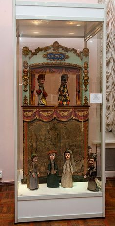 Tsarevich Alexei Nikolaevich Romanov of Russia's French puppet theatre set that was located at the Alexander Palace in the Children's Playroom.