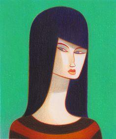 Elizabeth. Pastels by Andrea Serio.