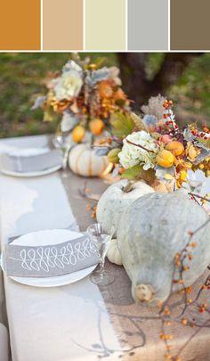 Fresh Fall Table Color Designed By Lisa Perrone | Stylyze Creative Director via Stylyze