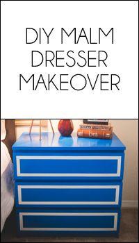 IKEA MALM Dresser Makeover