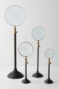 Magnifying glasses - Science Inspired Home Accessories. Source by ancientcircles Accessories Playroom Decor, Diy Room Decor, Bedroom Decor, Home Design, Diy Design, Interior Design, Home Decor Accessories, Decorative Accessories, Black And Gold Bathroom