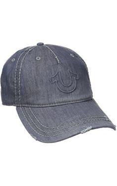 368c2aa9e74 True Religion Men s Distressed Horseshoe Baseball Cap