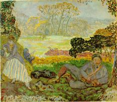 Pierre Bonnard (French, 1867 - The Hunting Party Pierre Bonnard, Watercolor Paintings Abstract, Painting & Drawing, Watercolor Artists, Painting Lessons, Abstract Oil, Billie Holiday, Arctic Monkeys, Maurice Denis
