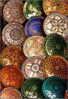 mandala inspiration in moroccan crockery Moroccan Decor, Moroccan Style, Moroccan Plates, Turkish Plates, Moroccan Dishes, Moroccan Bedroom, Moroccan Design, Turkish Decor, Moroccan Lanterns