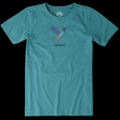 Women's Painted Hummingbird Crusher Tee | Life is Good® Official Site
