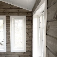 Bilderesultat for tyrilin gråtonet Mountain Interiors, Home, House Exterior, Basement Inspiration, Cabins And Cottages, Trailer Home, Doors And Floors, Log Homes, Scandinavian Cabin