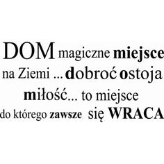 Dom magiczne miejsce na ziemi Thoughts, Math, Words, Quotes, Blog, House, Decor, Quotations, Decoration
