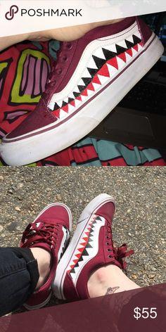 3063cb9525  VansShoes Vans X Bape Custom Old Skool