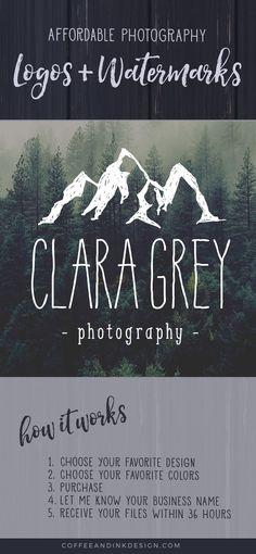 Mountain Logo Design for Photographers