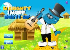 """Play """"Naughty Smurf"""" Dress-Up Game. !!! http://www.crushgreen.com/naughty-smurf-dress-up.html"""