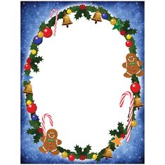 Christmas Stationary  As A Frame Or As A Border Around A