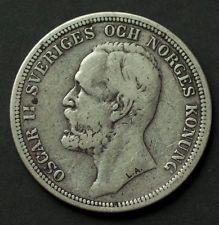 Marcus Nickolas Ladislav 710223 February ŠVÉDSKO OSCAR II 2 Kronor 1897 dobrú známku do zbierky NO REZERVÁCIA