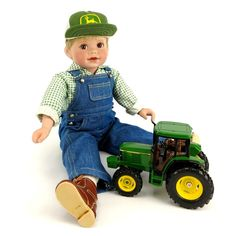 JOHN DEERE Collectable Porcelain Doll Johnny NEW IN BOX PERFECT CHRISTMAS GIFT  #DanburyMint #JohnDeere