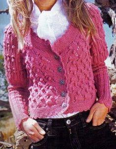 Patrones de Tejido Gratis - Sweater Blanco Tejido