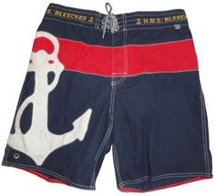 7361cb3c83 Polo by Ralph Lauren Men's Swim Trunks Bathing Suit Yacht Club Navy/Red,  Small