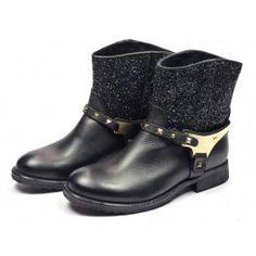 Nubikk Sarah glitter boots - zwart #emmenmode