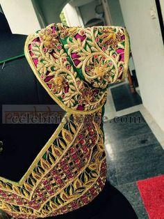 Cut Work Floral Unique Blouse | Saree Blouse Patterns