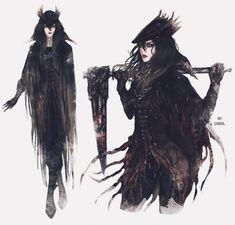 my oc June The Ashen Hunter - I'm just a dreamer, I dream my life away Bloodborne Concept Art, Bloodborne Art, Bloodborne Outfits, Fantasy Character Design, Character Design Inspiration, Character Art, Bloodborne Characters, Fantasy Characters, Gothic Fantasy Art