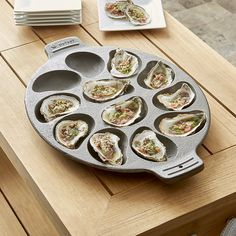 Cast Iron Oyster Pan | Crate and Barrel