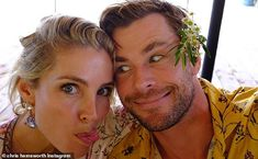 Chris Hemsworth wishes wife Elsa Pataky a happy birthday as they have 'epic' vacation in Spain Celebrity Selfies, Celebrity Babies, Celebrity Couples, Celebrity Pictures, Chris Hemsworth Kids, Hemsworth Brothers, Baby Park, Elsa Pataky, Wife And Kids