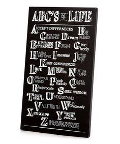 Black & White 'ABC's of Life' Wall Art