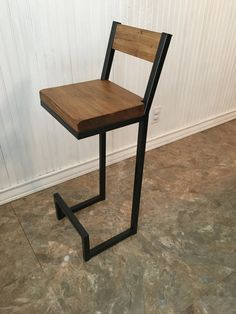 26 new bar stool with back rest. Metal bar stools. by AlexMetalArt