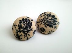 Blackish Navy Blue Floral Button Ea.. on Luulla