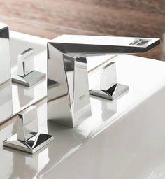 Allure Brilliant Three-hole basin mixer | Antonietty Architects AG, Switzerland