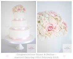 Bryan & Nadine's Wedding Cake