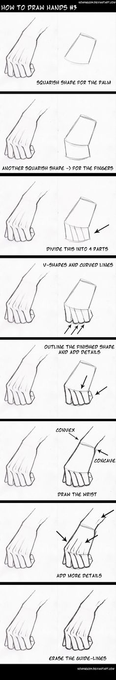 how to draw hands3
