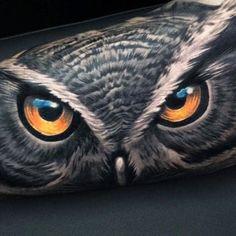 Owl tattoo by David García