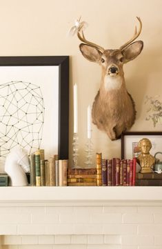 Mobile Home Redo, Mantle Styling, Taxidermy Decor, Room Of One's Own, Welcome To My House, Steampunk House, Lake Decor, Lets Stay Home, I Coming Home