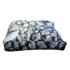 Rectangle Hard Rocks Dog Pillow Size: Medium (30' L x 24' W) ** Remarkable product available now. : Pet dog bedding