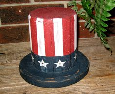 Recycled Fence Post /Uncle Sam Top Hat