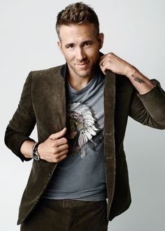 Ryan Reynolds photographed by Peggy Sirota for 'GQ', 2015