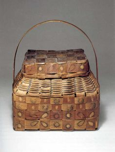 Onondaga ash basket , 1840's New York
