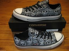 New Converse Women's Chuck Taylor All Star Skull Ox Sneakers Shoes 540225F | eBay